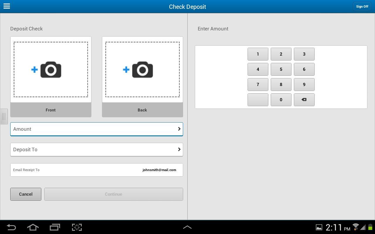 BMO Harris Mobile for Tablet - screenshot
