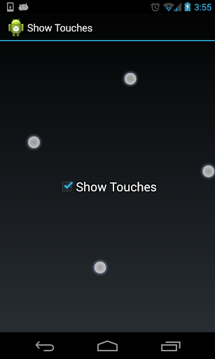 Show Touch Indicators