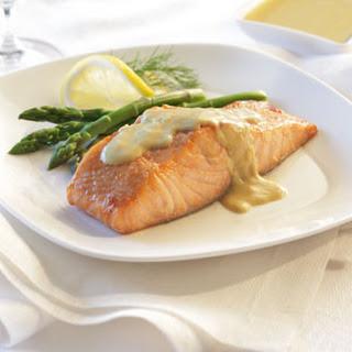 Salmon with Dijon Sauce.