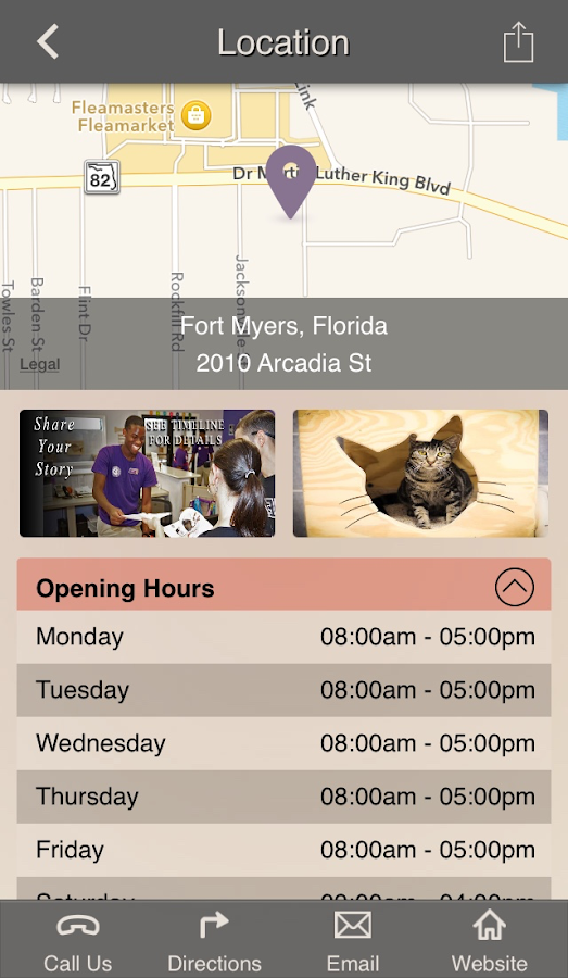 Gulf Coast Humane Society- screenshot