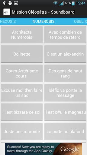 Mission Cléopâtre - Soundboard