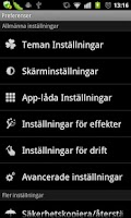 Screenshot of GO LauncherEX Swedish language