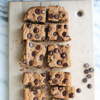 Chocolate & Peanut Butter Chickpea Cookie Bars – Gluten Free & Vegan