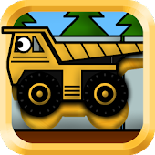 Kids Trucks: Puzzles - Golden