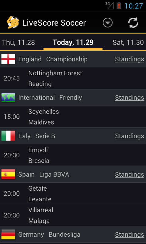 google livescore football