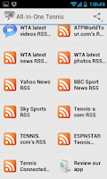Screenshot of Tennis News and Scores
