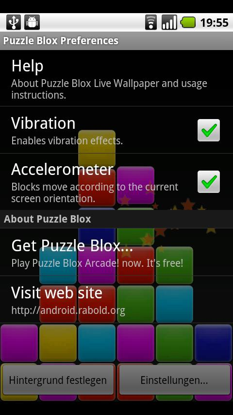 Puzzle Blox Live Wallpaper- screenshot