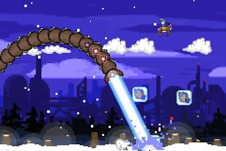 Super Mega Worm Vs Santa 2- screenshot thumbnail