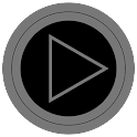 Poweramp skin TRON GREY icon