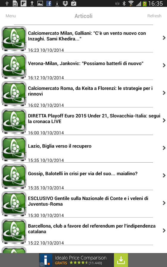 Calciomercato.it- screenshot