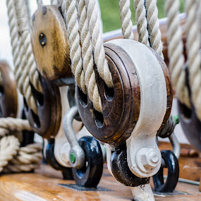 Cutty Sark by Bogdan Rusu - Artistic Objects Industrial Objects ( cutty sark, rope, perspective, museum, boat )