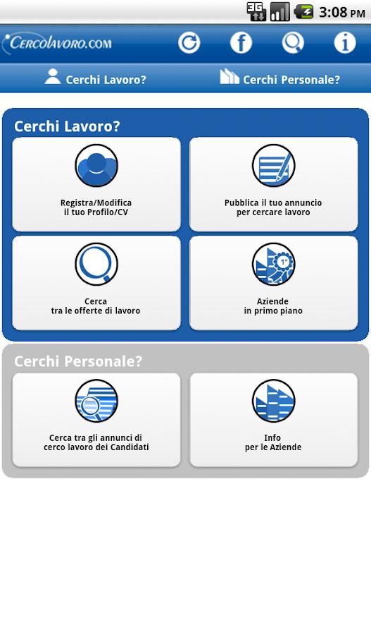 Cerco Lavoro - screenshot