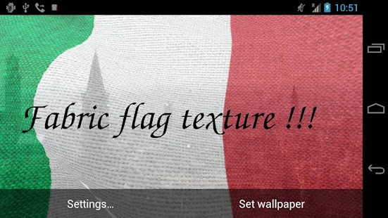 3D Italy Flag Live Wallpaper + - screenshot thumbnail