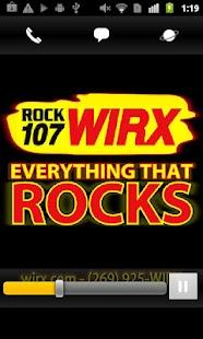 ROCK 107 WIRX- screenshot thumbnail