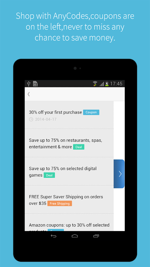 Coupons & Deals App - AnyCodes - screenshot