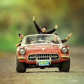My Toys by Benaya Agung - Digital Art People ( car, macro, classic car, happy, little guys, toys, transportation, people, miniature )