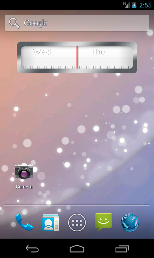 Linear Clock Widget- screenshot