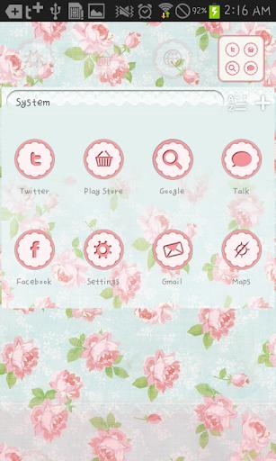 玩免費個人化APP|下載Vintage flower go launcher app不用錢|硬是要APP