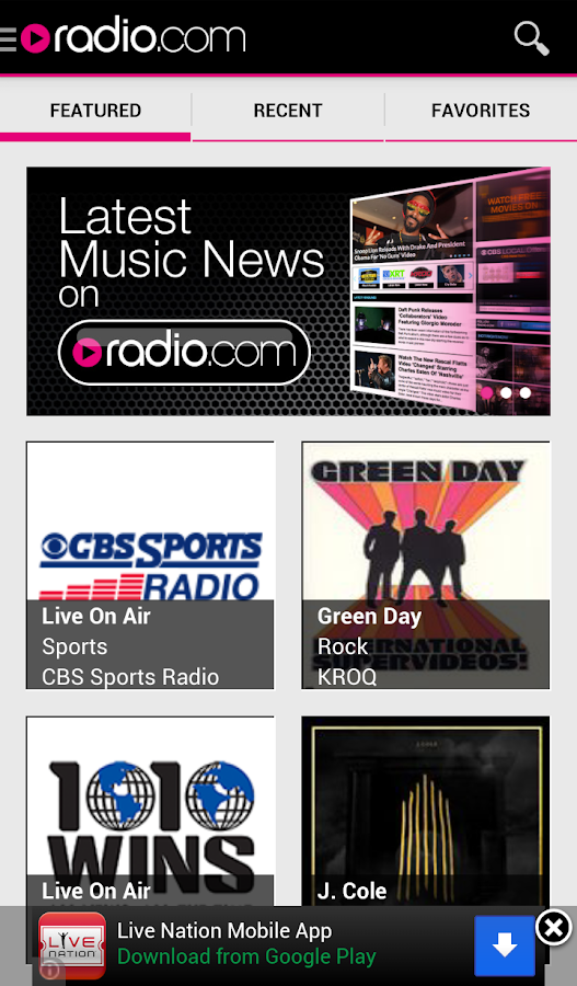 Radio.com - screenshot