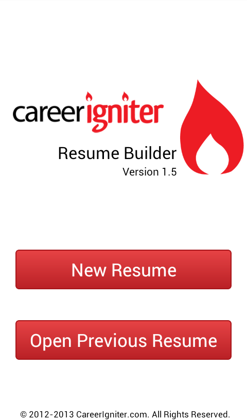 Career Igniter Resume Builder - screenshot