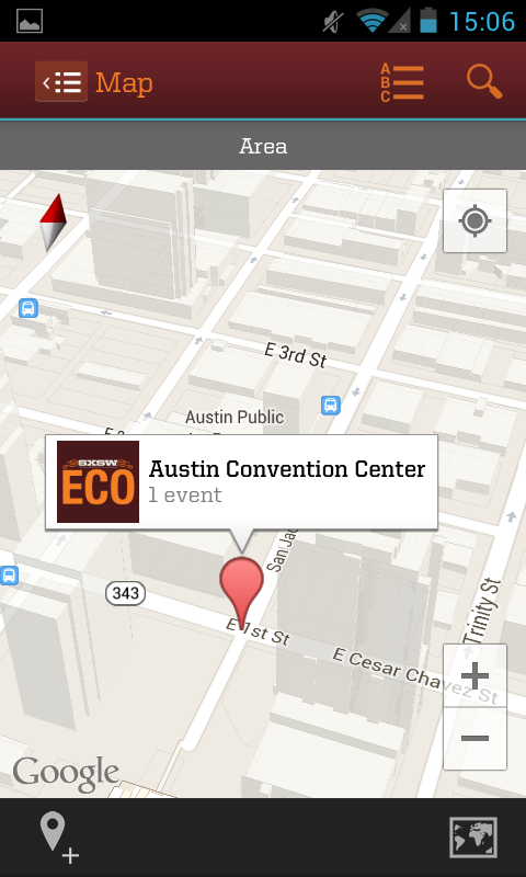 SXSW Eco Mobile Guide - screenshot