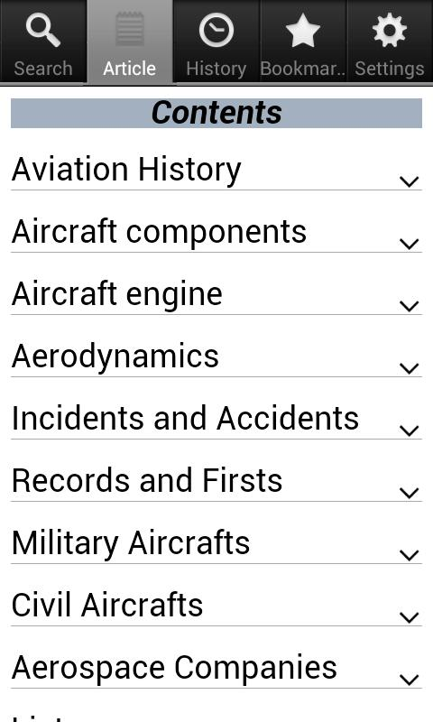 Aviation Encyclopedia- screenshot