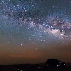The Galactic Arch by Sam Raja - Landscapes Starscapes ( milkyway, milkywayuae, dubai, stars, night )