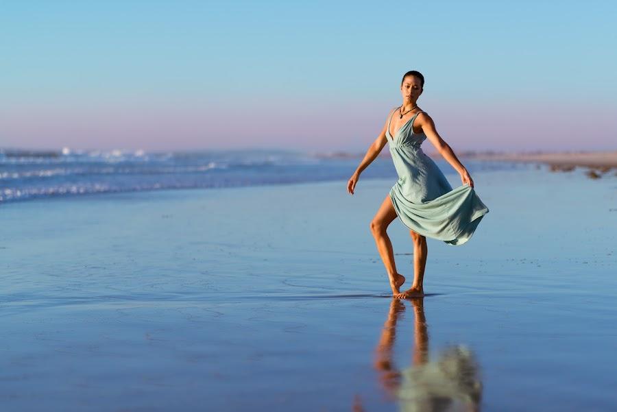 Dancing on the beach by Nikon Guy - People Portraits of Women ( water, girl, dress, beach, pretty, dance )