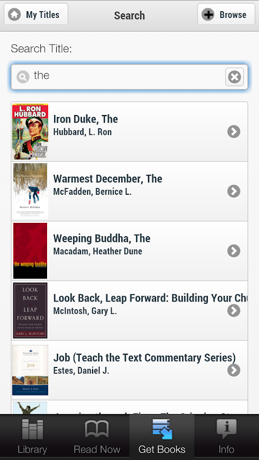 OneClickdigital eReader - screenshot