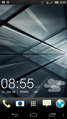 UCCW skin - black sense clock - screenshot