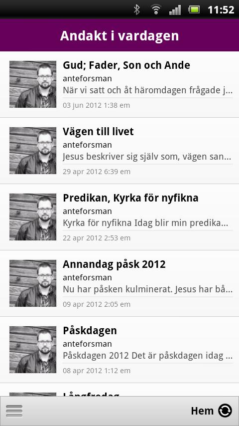 Andakt i vardagen- screenshot