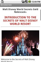 Screenshot of Disney World Secrets Gold!