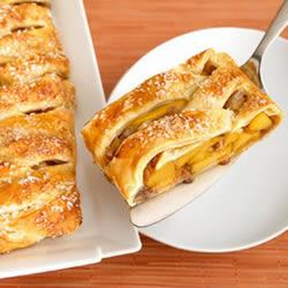Braided Peach Strudel.