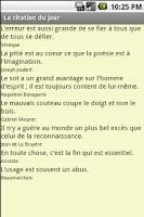 Screenshot of La citation du jour
