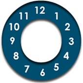 Jetpad Blue Analogue Clock