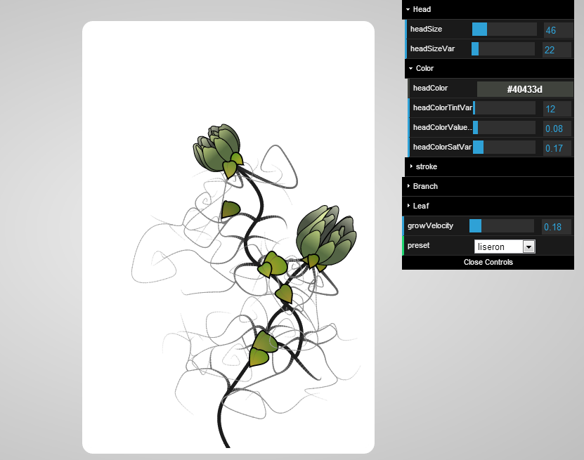 Procedural Flower by Platane | Experiments with Google