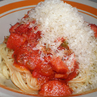 Smoked Sausage Spaghetti