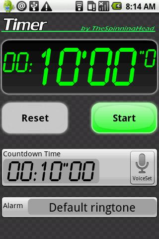 Timer- screenshot