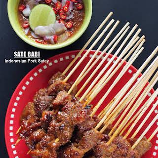 Sate Babi - Indonesian Pork Satay.