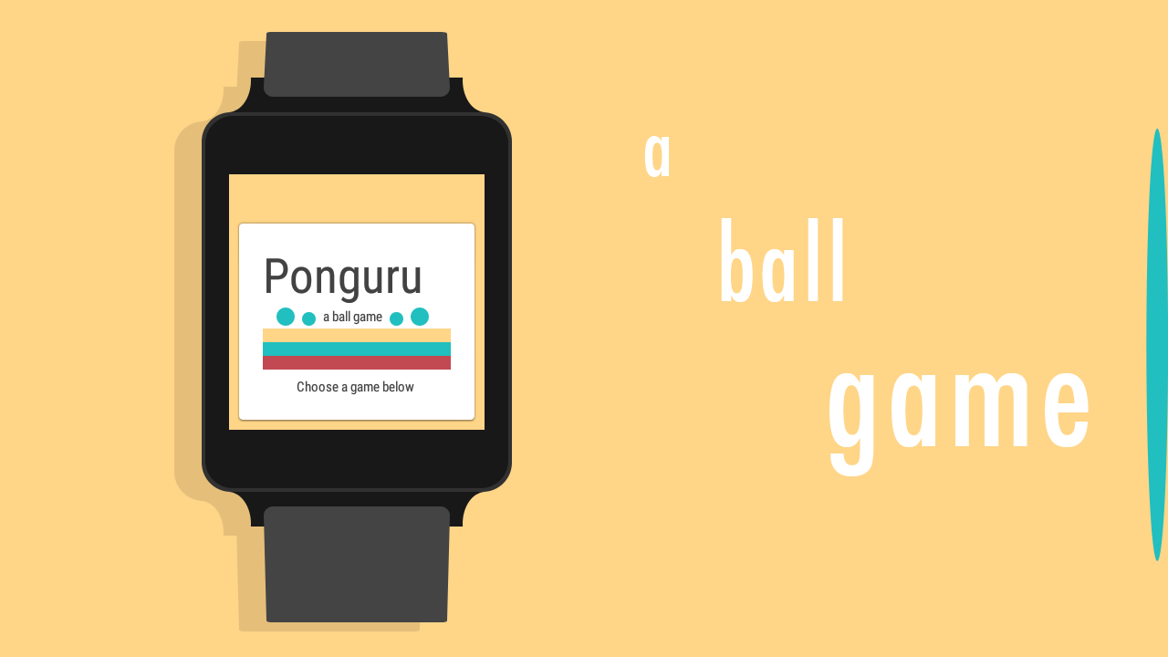 Ponguru - a ball game for wear- screenshot