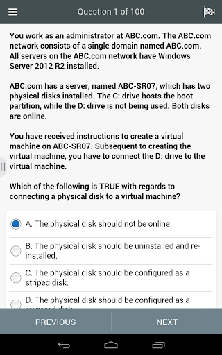 【免費教育App】70-410 MCSA-2012 Virtual Exam-APP點子