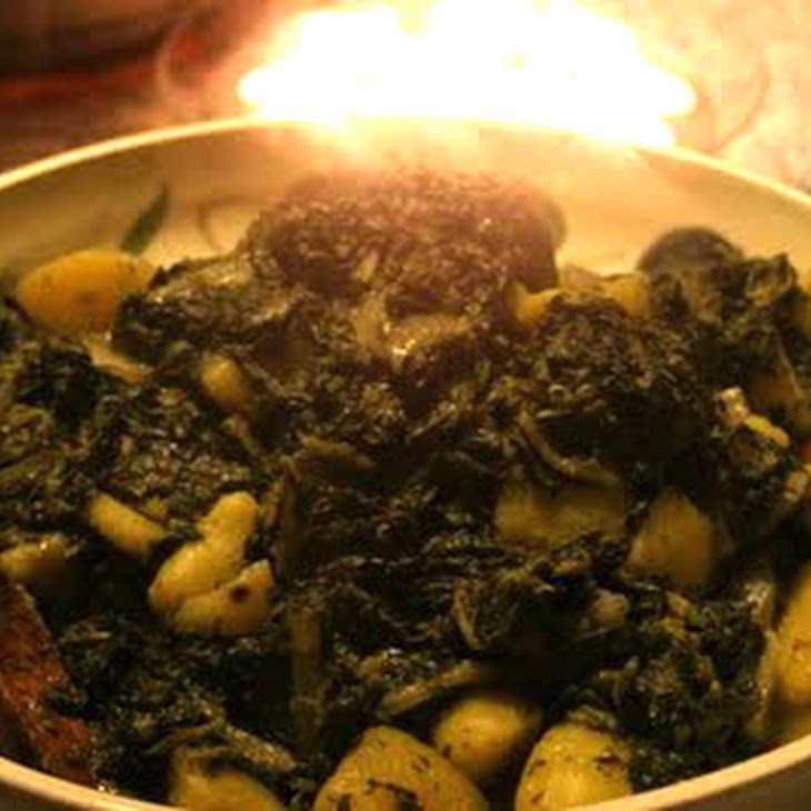 Indian-Style Fragrant Buttered Greens with Potatoes