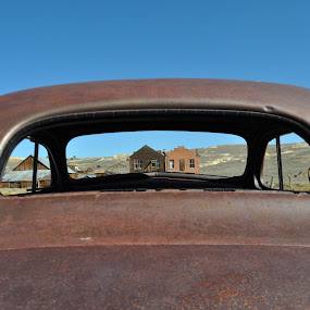 A View To The Past by Ed Hanson - Buildings & Architecture Decaying & Abandoned ( car, old, window, buildings, rust )