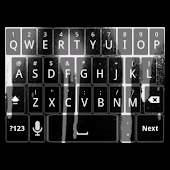 White Spray Keyboard Skin