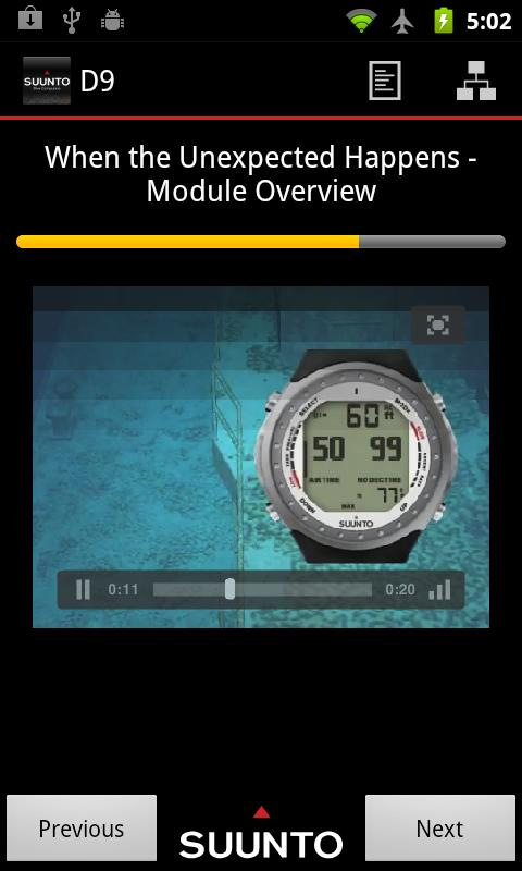 Suunto Dive Computers- screenshot