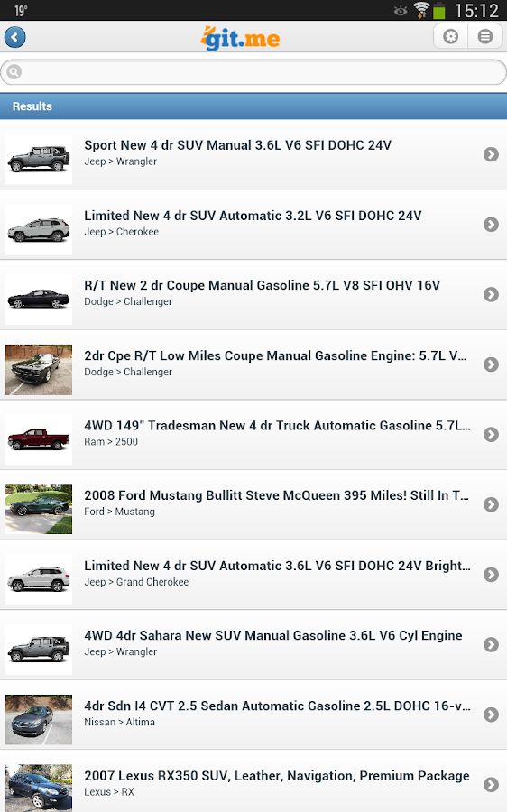 Git.me - Used Vehicles- screenshot