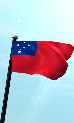 Samoa Flag 3D Free Wallpaper
