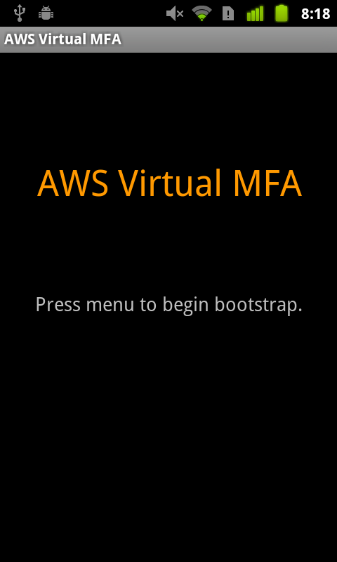 AWS Virtual MFA- screenshot