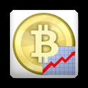 Exchange rate of Bitcoin logo