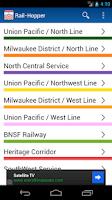 Screenshot of Rail-Hopper for Metra